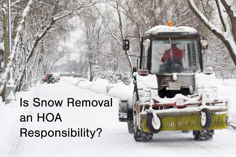 HOA snow removal